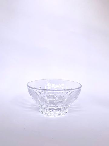 Crystal Dish with Raised and Intricate Bottom