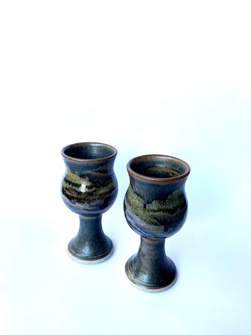 Handmade, Pottery Wine Glasses