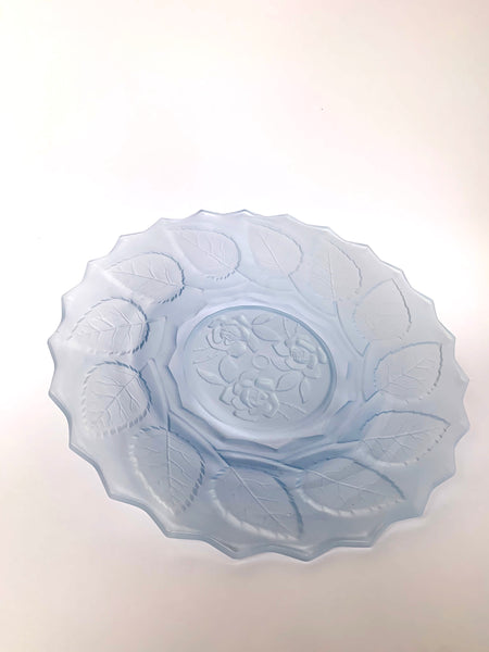 Baby Blue, Glass Roses Plate