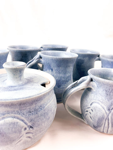 Handmade Blue Mug Set!