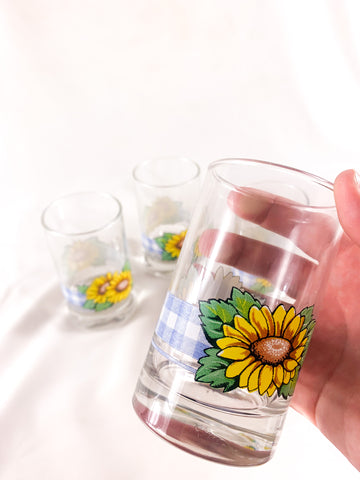 Retro Sunflower Cups! (4)
