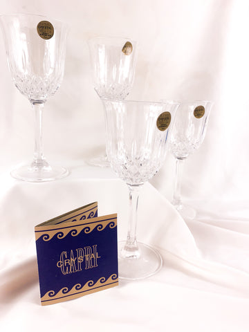 """Concerto"" Vintage Crystal Glasses (set of 4)"