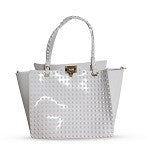 White Handbag – Womens Studded Jelly Bag