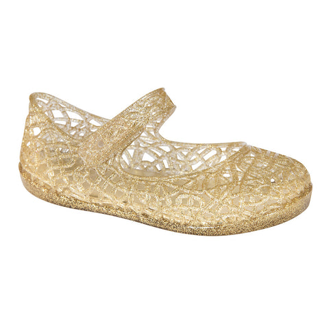 Lily–Gold Ballet Flat–Mary Jane-Jelly Shoes