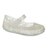 Lily–Silver Ballet Flat–Mary Jane-Jelly Shoes