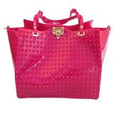 Pink Handbag – Womens Studded Jelly Bag