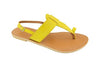 Lanni – Yellow Leather Sandals – Ladies T Bar Sandals