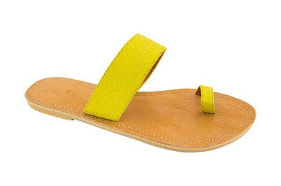 Cassi – Yellow Leather Sandals