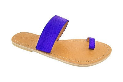 Cassi – Electric Blue Leather Sandals
