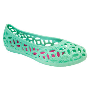 Amelia – Green Ballet Flats – Jelly Shoes
