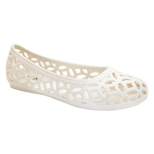 Amelia – Cream Ballet Flats – Jelly Shoes