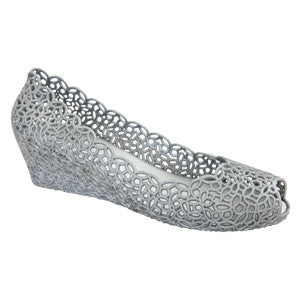 Alicia – Silver Wedges –  Jelly Shoes
