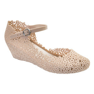 Wendy – Cream Wedges –  Mary Jane Shoes - Jelly Shoes