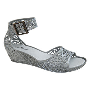 Maria – Silver Sandal –  Jelly Shoes