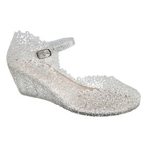 Lil Wendy–Clear Wedges- Mary Jane-Children's Jelly Shoes