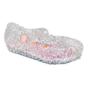 Lil Wendy Toddler–Silver Ballet Flat–Mary Jane-Jelly Shoes