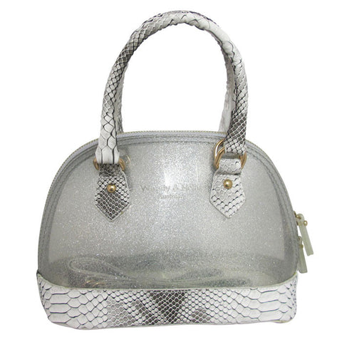 Silver Handbag – Womens Sparkle Jelly Handbag