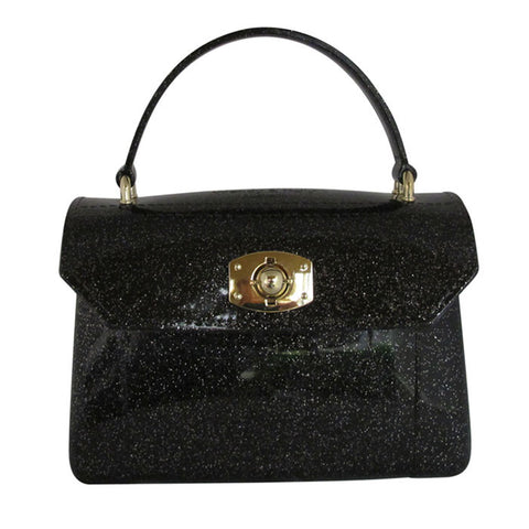 Black Handbag – Womens Sparkle  Jelly Handbag