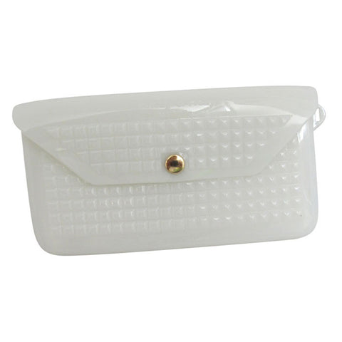 White Studded Jelly Wallet