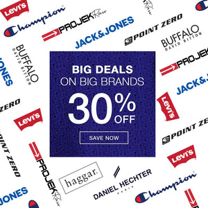 Big Deals on Big Brands 30% off