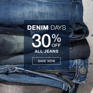 Denim Days 30% Off All Jeans