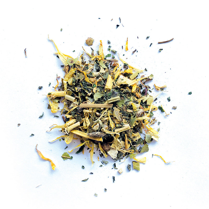 Fusspot Collagen Beauty Tea Celebrity Skin to support skin, hair and nails. Loose leaf tea leaves. Beauty Tea with collagen peptides