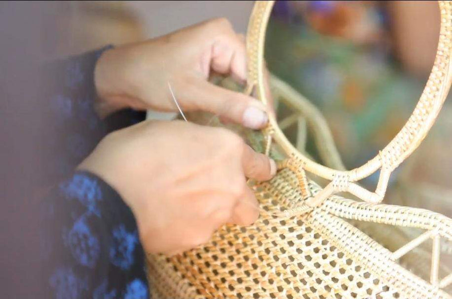 How To Make Round Rattan Bag