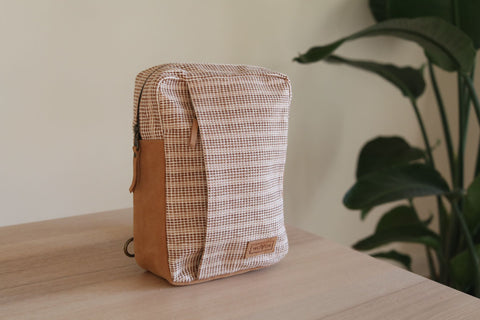 WOVEN Chest Crossbody Bag - Beige by Ganapati Crafts Co.