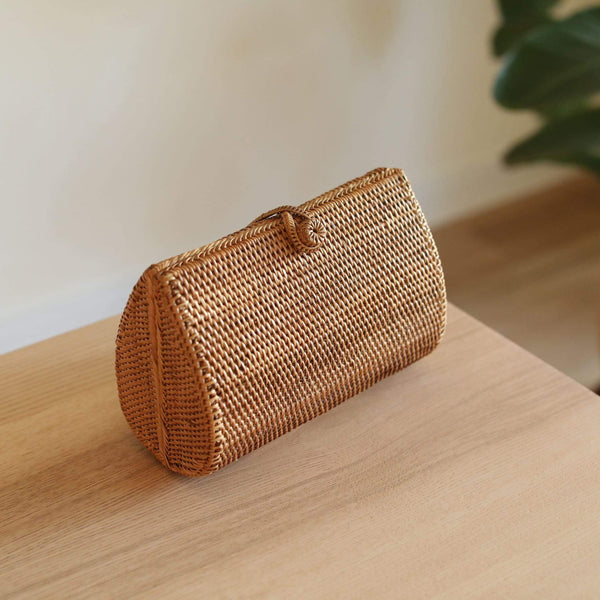Bali Envelope Rattan Clutch Premium Quality Unique Handmade Gifts And Accessories - Ganapati Crafts Co
