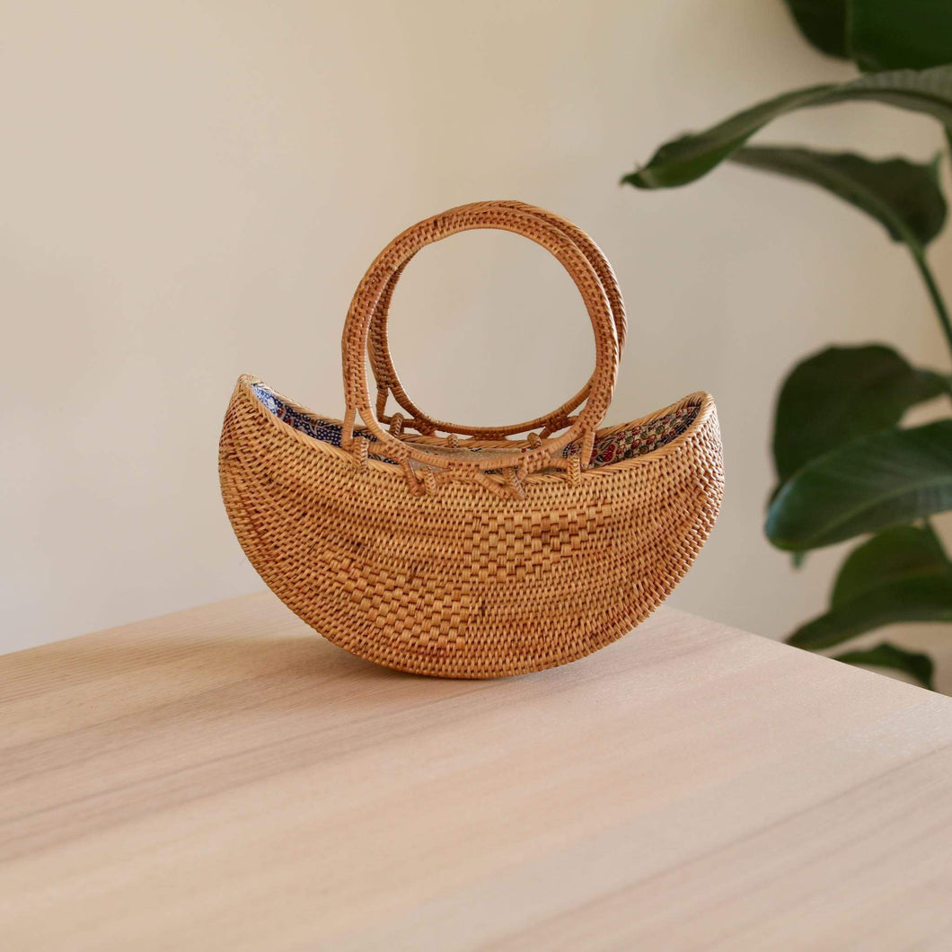 Bali Rattan Boat Clutch Premium Quality Unique Handmade Gifts And Accessories - Ganapati Crafts Co