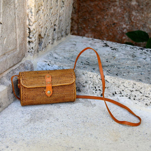 Bali Rattan Crossbody Bag - Mailer Bag Premium Quality Unique Handmade Gifts And Accessories - Ganapati Crafts Co