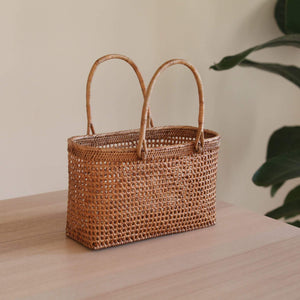 Bali Rattan Net Handbag Premium Quality Unique Handmade Gifts And Accessories - Ganapati Crafts Co