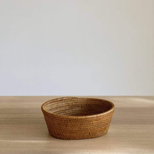 Bali Rattan Oval Fruit Bowl Premium Quality Unique Handmade Gifts And Accessories - Ganapati Crafts Co