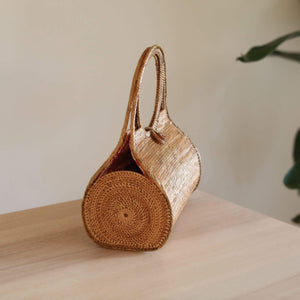Bali Rattan Wheel Clutch Premium Quality Unique Handmade Gifts And Accessories - Ganapati Crafts Co
