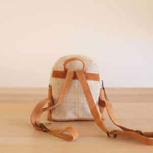 Blue Stripe Mini Backpack Premium Quality Unique Handmade Gifts And Accessories - Ganapati Crafts Co
