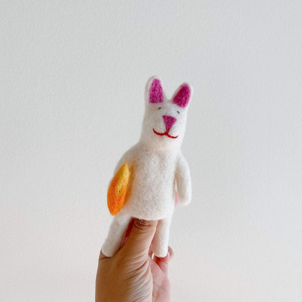 Bunny Finger Puppet Premium Quality Unique Handmade Gifts And Accessories - Ganapati Crafts Co