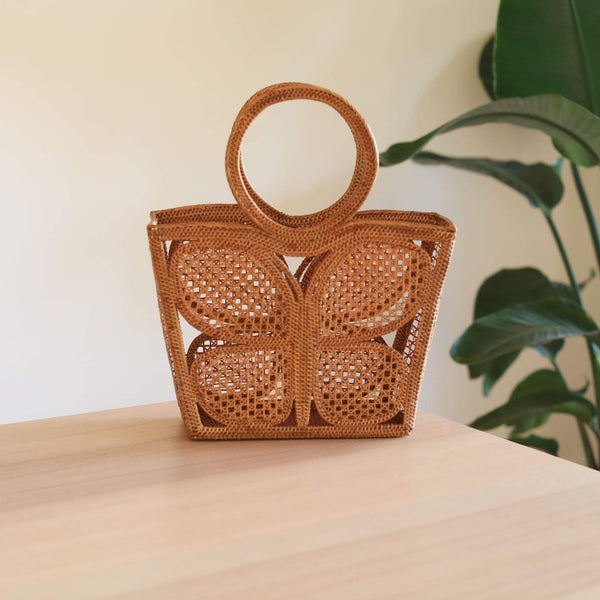 Butterfly Rattan Clutch Premium Quality Unique Handmade Gifts And Accessories - Ganapati Crafts Co