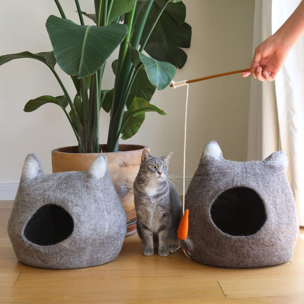 Cat Stick - Felt Carrot Premium Quality Unique Handmade Gifts And Accessories - Ganapati Crafts Co