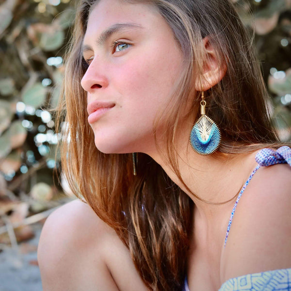 Dolphin - Syrian Drop Earrings Not Bombs Premium Quality Unique Handmade Gifts And Accessories - Ganapati Crafts Co