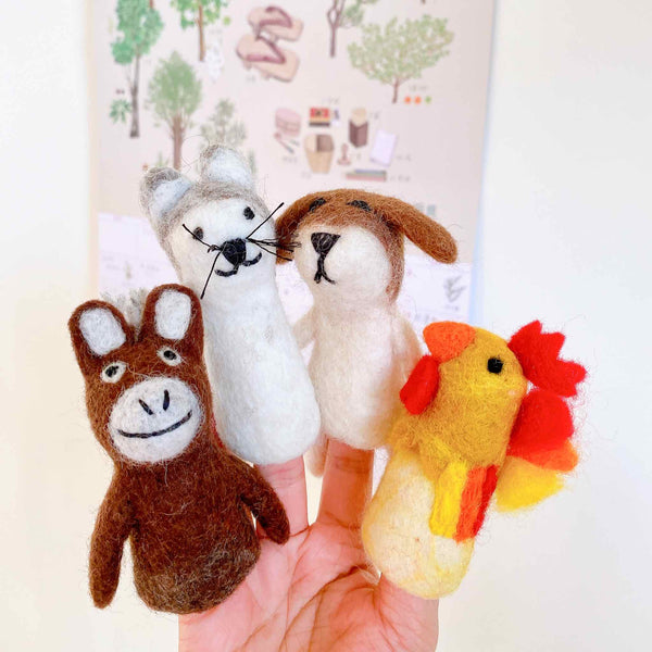 Felt Beagle Dog Finger Puppet Premium Quality Unique Handmade Gifts And Accessories - Ganapati Crafts Co
