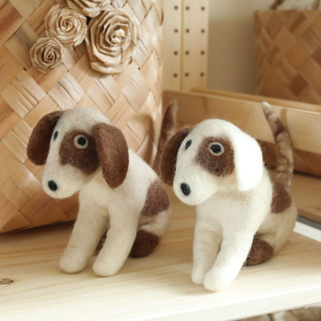 Felt Calico Dog Premium Quality Unique Handmade Gifts And Accessories - Ganapati Crafts Co
