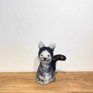 Felt Cat Wine Topper Premium Quality Unique Handmade Gifts And Accessories - Ganapati Crafts Co