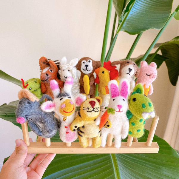 Felt Chinese Animal Sign Finger Puppet Set Premium Quality Unique Handmade Gifts And Accessories - Ganapati Crafts Co