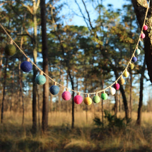 Felt Color Ball Lightbulb Garland Premium Quality Unique Handmade Gifts And Accessories - Ganapati Crafts Co