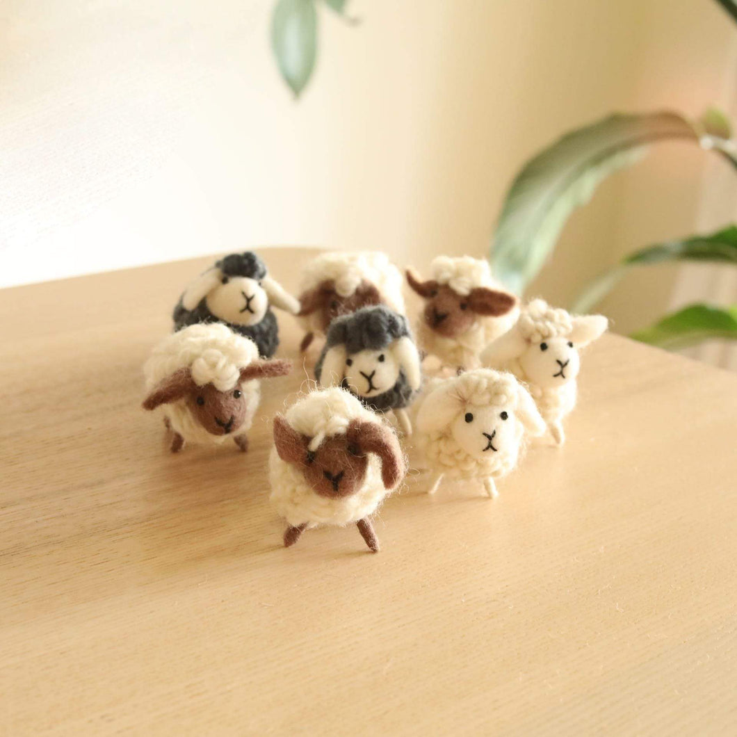 Felt Mini Sheep Decoration Premium Quality Unique Handmade Gifts And Accessories - Ganapati Crafts Co
