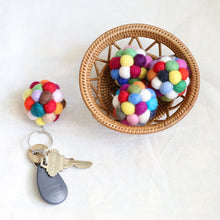 Load image into Gallery viewer, Felt pompom key chain Premium Quality Unique Handmade Gifts And Accessories - Ganapati Crafts Co