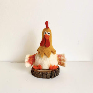 Felt Rooster Wine Topper Premium Quality Unique Handmade Gifts And Accessories - Ganapati Crafts Co