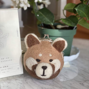 Felt Shiba Inu Dog Coin Pouch Premium Quality Unique Handmade Gifts And Accessories - Ganapati Crafts Co