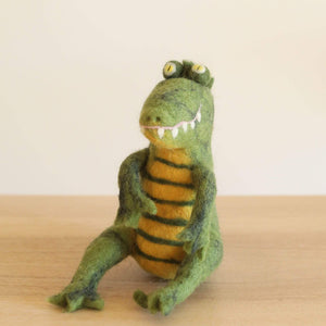 Felt Sitting Gator Premium Quality Unique Handmade Gifts And Accessories - Ganapati Crafts Co