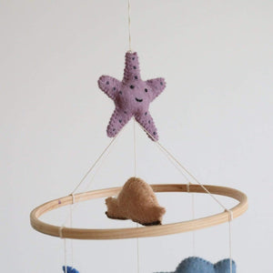 Felt Under The Sea Baby Mobile Premium Quality Unique Handmade Gifts And Accessories - Ganapati Crafts Co